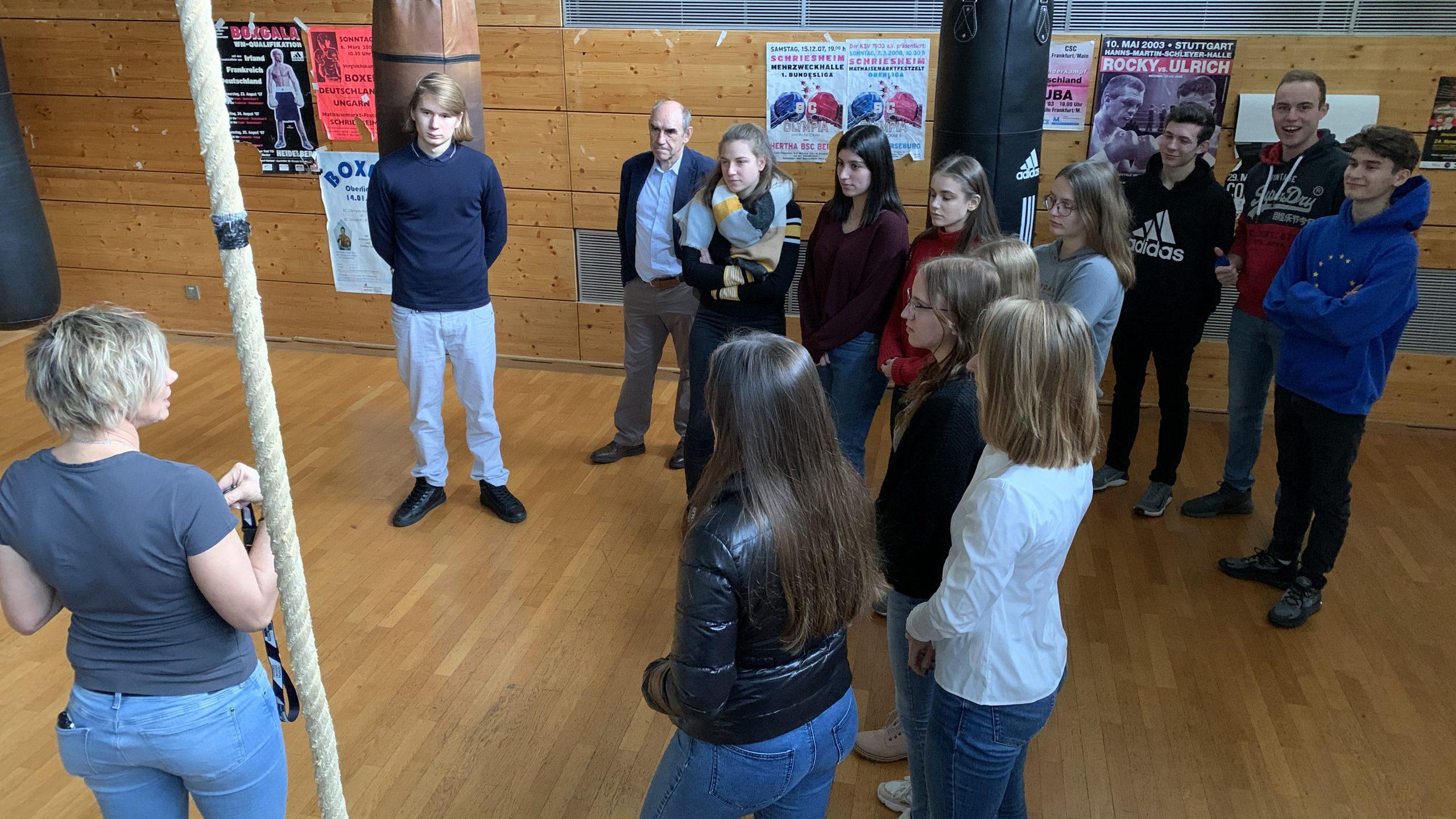 Der Seminarkurs auf Exkursion in Heidelberg