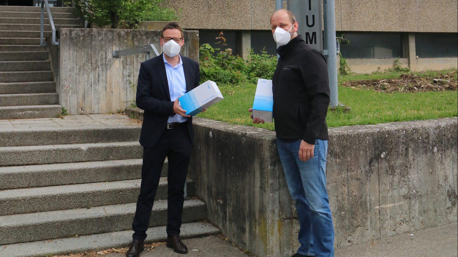 Die Filtration Group Öhringen spendet dem HGÖ Gesichtsmasken